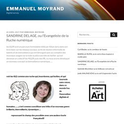 SANDRINE DELAGE, ou l'Evangeliste de la Ruche numérique - Emmanuel Moyrand