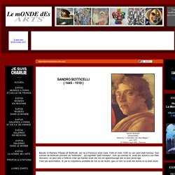 Sandro Botticelli ( 1445 - 1510 )
