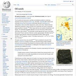 Oil Sands - Wiki