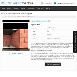 Natural Red Sandstone Tiles Manufacturer & Supplier in Rajasthan
