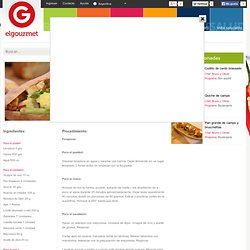 Sandwich de Fougasse en elgourmet