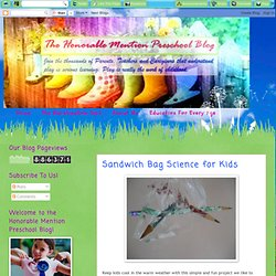 Sandwich Bag Science for Kids | The Honorable Mention Preschool Blog