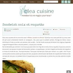 Sandwich aux noix, ricotta et roquette
