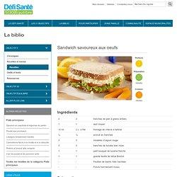 Sandwich savoureux aux oeufs
