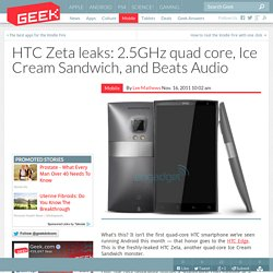 HTC Zeta leaks: 2.5GHz quad core, Ice Cream Sandwich, and Beats Audio – Cell Phones & Mobile Device Technology News & Updates