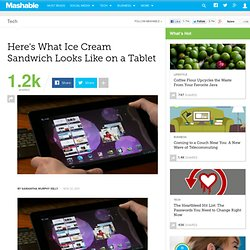 Nvidia Demos Ice Cream Sandwich on Transformer Prime Tablet | Android 4.0