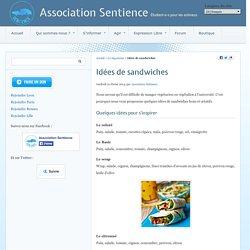 Idées de sandwiches - Association Sentience