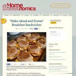 """Make-ahead and Freeze"" Breakfast Sandwiches Home Beccanomics"
