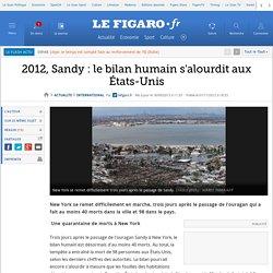 Sandy : le bilan humain s'alourdit aux États-Unis