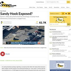 Shooting at Sandy Hook Elementary SChool in Newtown, Connecticut