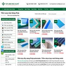 Tấm Lợp Lấy Sáng Thông Minh - Tấm Poly / Báo Giá Tấm Polycarbonate