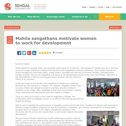 Mahila sangathans motivate women to work for development
