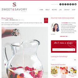 Rose Sangria ~Sweet & Savory by Shinee
