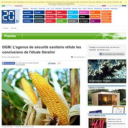 OGM: L'agence de sécurité sanitaire réfute les conclusions de l'étude Séralini