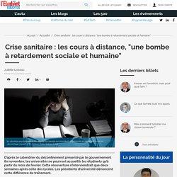 """Crise sanitaire : les cours à distance, """"une bombe à retardement sociale et humaine"""" - Educpros"""