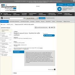 INSTITUT DE VEILLE SANITAIRE - OCT 2013 - Rapport annuel 2012