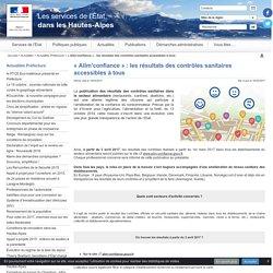 PREFECTURE DES HAUTES ALPES 16/03/17 « Alim'confiance » : les résultats des contrôles sanitaires accessibles à tous