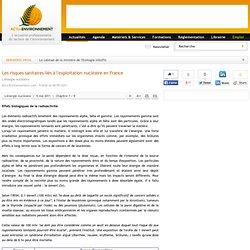 Les risques sanitaires liés à l'exploitation nucléaire en France - L'énergie nucléaire