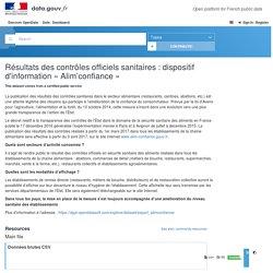 data_gouv_fr - AVRIL 2019 - Résultats des contrôles officiels sanitaires : dispositif d'information « Alim'confiance »