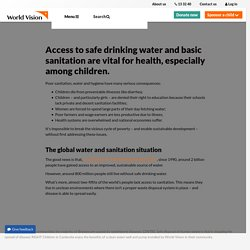 Clean water and sanitation - the keys to breaking free from poverty