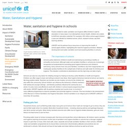 Water, Sanitation and Hygiene - UNICEF