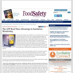 FOOD SAFETY MAGAZINE - JUNE 2004 - The ATP Real-Time Advantage in Sanitation Monitoring