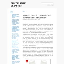 Buy Hand Sanitiser Online Australia – Buy The Best Quality Sanitiser - Forever Gleam Chemicals