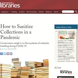 How to Sanitize Collections in a Pandemic