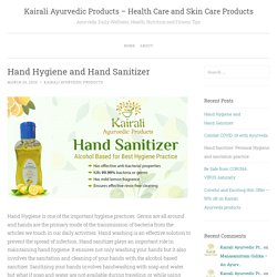 Hand Hygiene and Hand Sanitizer