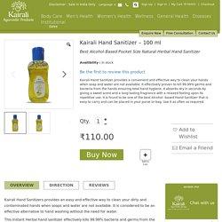 Kairali Hand Sanitizer – A Good Hygiene Practice
