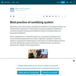 Best practice of sanitizing system: ext_5650379 — LiveJournal