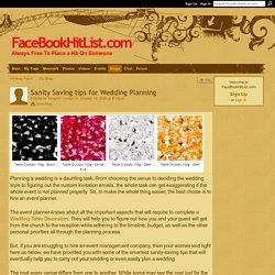 Sanity Saving tips for Wedding Planning