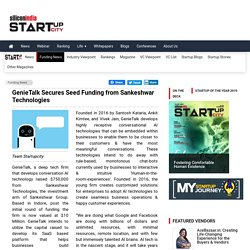 GenieTalk Secures Seed Funding from Sankeshwar Technologies