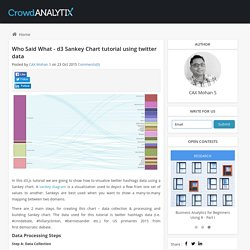 Who Said What - d3 Sankey Chart tutorial using twitter data