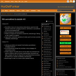 matematisk sannolikhet & statistik i åk4-9 | HurDetFunkar