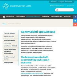 Sanomalehti opetuksessa - Sanomalehtien Liitto