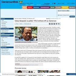 Intesa Sanpaolo va prêter 175,5 millions d'€ au Cameroun