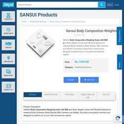 Sansui Body Composition Weighing Scale