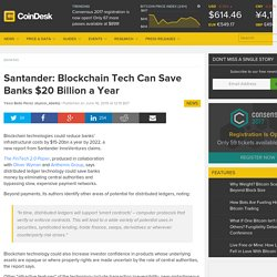 Blockchain Tech Saving Banks $20bn a Year on Back Office