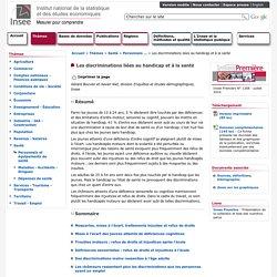 Santé - Les discriminations liées au handicap et à la santé