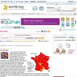GRIPPE en France : 57 décès et 395 cas graves