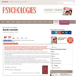 Santé mentale : Définition de Santé mentale