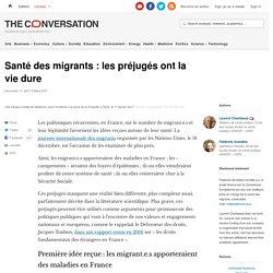 Santé des migrants : les préjugés ont la vie dure