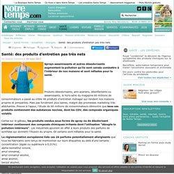 Santé: des produits d'entretien pas très nets - 09/03/17
