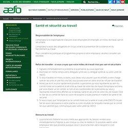 Santé et sécurité au travail - AEFO