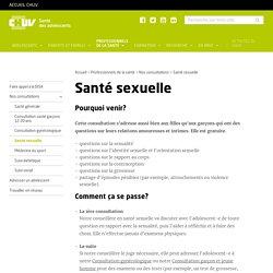 CHUV - Santé et sexualité des adolescents