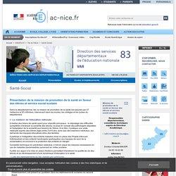 Santé-Social - Académie de Nice