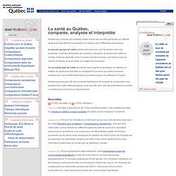 Santéscope - La santé au Québec, comparée, analysée et interprétée - Institut national de santé publique du Québec