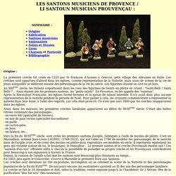 ZIC TRAD_Cours_Provence _ santons musiciens santoun musician santonniers traditions chants nouvè Noel noël provençal