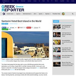 Santorini Voted Best Island in the World
